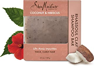 Shea Moisture Coconut and Hibiscus Rhassoul Clay Shampoo Bar by Shea Moisture for Unisex - 4.5 oz Shampoo Bar, 136.08 grams