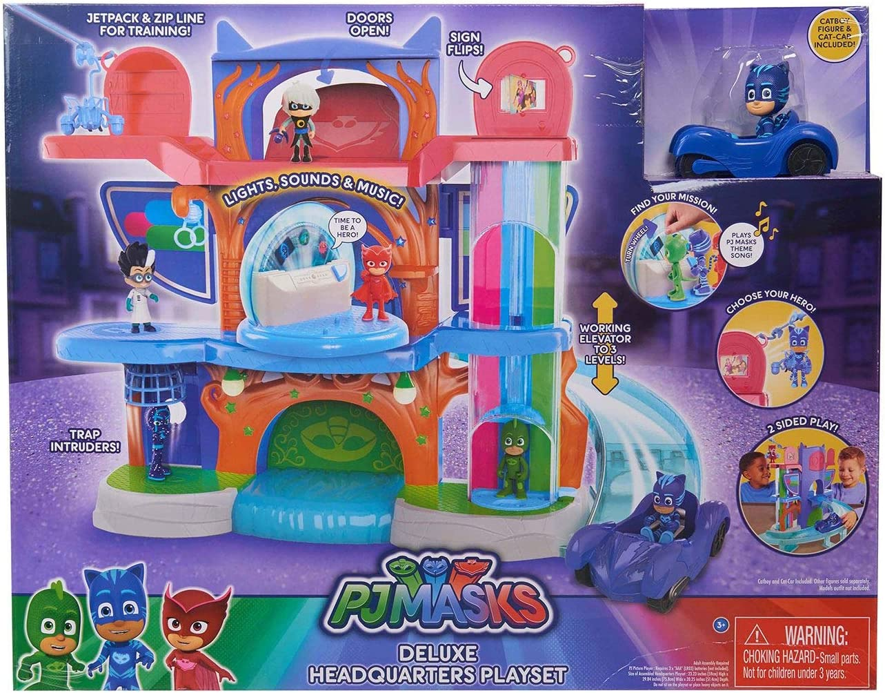Store - 383 PJ Masks Fort Worth Mall Deluxe Tucson Mall 4 Pack of Headquarters A1 Playset.