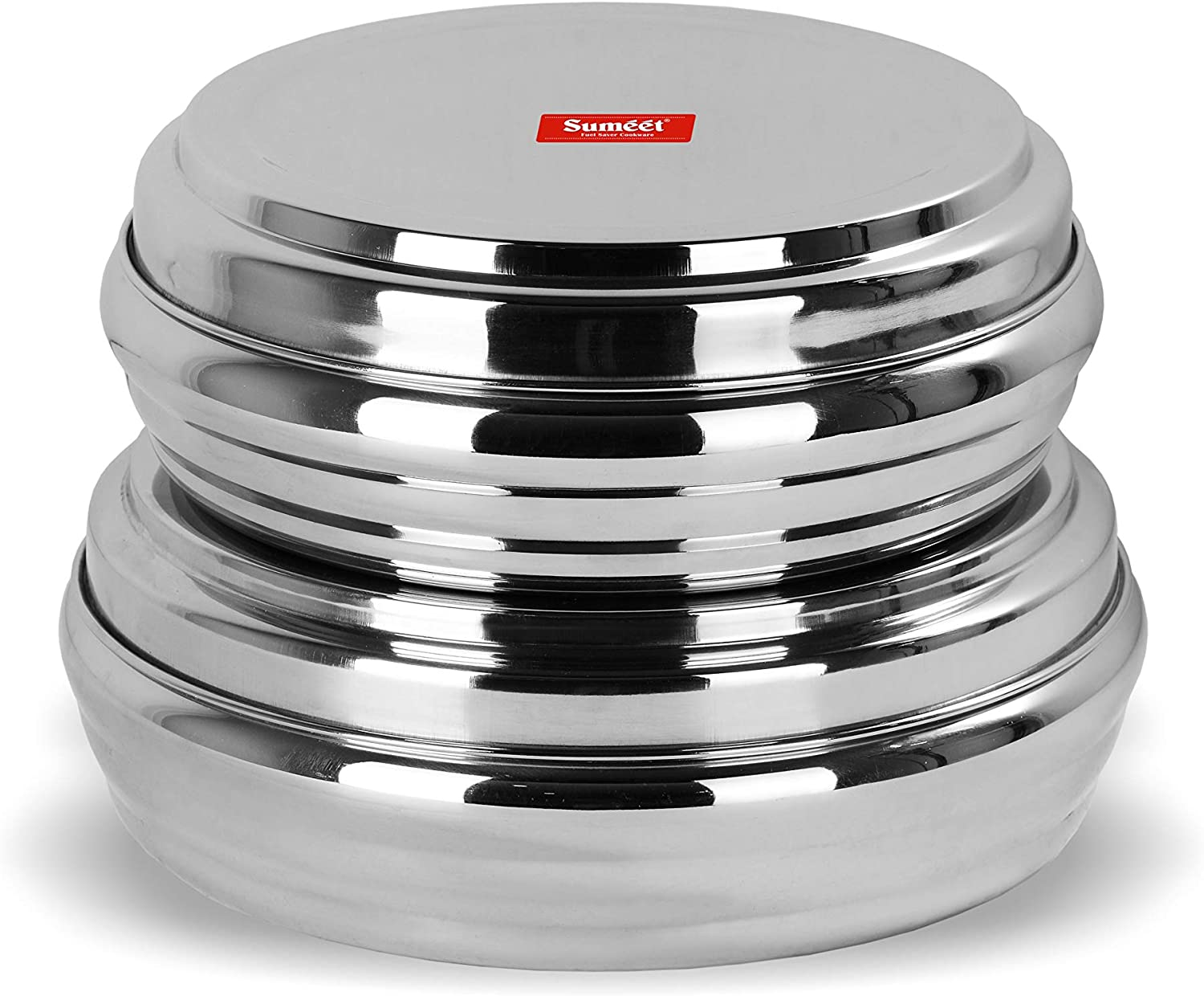 Sumeet Stainless Steel Ring Shape Flat 2 of Cheap mail order shopping Ca Raleigh Mall set Canisters Pc