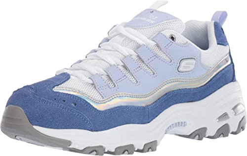 Skechers D'Lites Grand View femmes paniers bleu argent 9.5