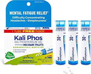 Boiron Kali Phosphoricum, Homeopathic Medicine for Headache (Packaging May Vary), 30C, White, 80 Count (Pack of 3)