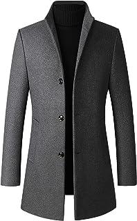 JHIJSC コート メンズ ロング ジャケット ビジネス ウールコート チェスターコート 秋冬 防寒 おおきいサイズ