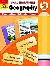 Evan-Moor Skill Sharpeners: Geography, Grade 2 Activity Book - Supplemental At-Home Resource Geography Skills Workbook