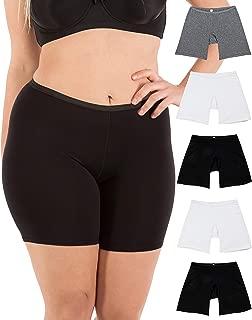 "B2BODY Women's Regular & Plus Size Stretch Cotton Long Leg 6.5"" Boyshort Briefs"