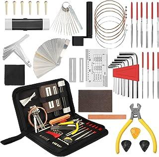 54Pcs Complete Guitar Repairing Maintenance Tool Kit,...