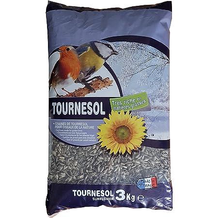 Aimé - Graines de Tournesol - Nourriture pour Oiseaux du Ciel - Source de Protéines et Matière Grasses - Made in France - Sac de 3 kg