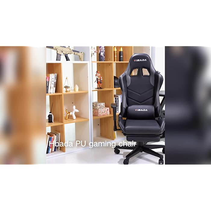 81bJvt6XCCS 【Estabilidad Alta estabilidad y larga durabilidad】 Hbada es una marca profesional para sillas ergonómicas de oficina. Ha pasado las certificaciones BIFMA y SGS y pasó la prueba de presión estática de 1136 kg. La silla de juego tiene una carga máxima de 150 kg. El diseño ergonómico del respaldo proporciona soporte para la cintura y la columna vertebral y reduce el dolor de espalda. 【Diseño ergonómico】 La forma ergonómica, la superficie curva envuelve el respaldo alto y se adapta a la curva de la persona, creando una experiencia de juego impresionante. Los cojines de los asientos en forma de ala reducen la presión sobre las caderas, alivian significativamente el dolor al estar sentado durante mucho tiempo y mejoran la eficiencia de los juegos de oficina y deportes electrónicos. 【Alta comodidad】 La silla para juegos Hbada tiene reposacabezas ajustables y almohadillas lumbares para sostener cómodamente la columna cervical y lumbar. El corte de diamante de cinco garras es estable y duradero. La silla para juegos utiliza ruedas de alta calidad que se deslizan de manera suave y silenciosa y pueden evitar rasguños en el piso.