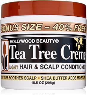Hollywood Beauty Tea Tree Creme Hair and Scalp Conditioner, White , 10.5 Ounce