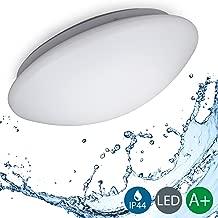 B.K.Licht LED Deckenleuchte, Bürodeckenleuchte, Badezimmerleuchte, Badezimmerlampe, Innenleuchte, IP44 spritzwassergeschützt, weiß, Ø29cm, 120° Abstrahlwinkel