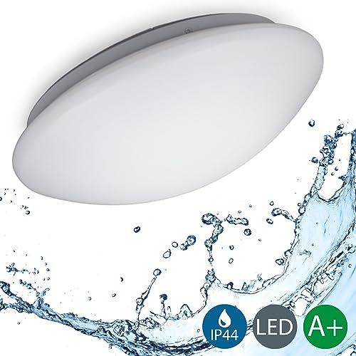 B.K. Licht plafonnier LED salle de bain, lumière blanche neutre 4000 kelvin, lampe moderne design épuré, éclairage intérieur plafond, 230V, IP44, 12W, IP44, Ø 290mm