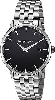 Men's Toccata Swiss-Quartz Watch with Stainless-Steel Strap, Black, 10 (Model: 5488-ST-20001)