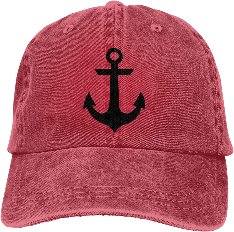 Denim Cap Nautical Anchor Baseball Dad Cap Classic Adjustable Casual Sports for Men Women Hat