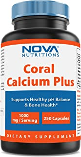 Nova Nutritions Coral Calcium Plus 1000 mg 250 Capsules - Coral Calcium essential nutrient for bone health