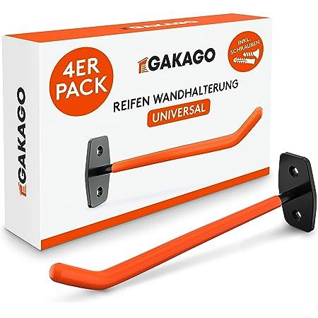 Gakago Support mural pour pneus - Jeu de 4 supports pour jantes avec vis et chevilles et instructions de montage - Support mural pour pneus extra longs