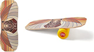 Juego de Tabla de Equilibrio con Rodillo de Corcho y Protector de Suelo para Exteriores Las Botas Daky Improve Tus Habilidades Balance Board Classic