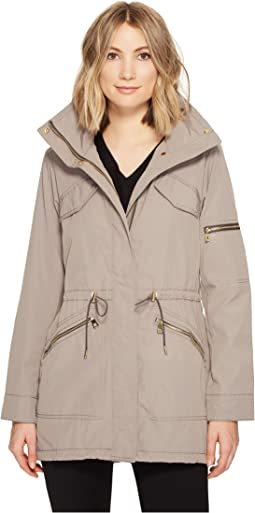 Vince Camuto - Lightweight Parka with Drawstring Waist and Hem