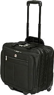 "Executive Laptop Roller Bag Wheeled Pilot Case Briefcase Overnight & 15"" - 17"" Laptop Compartment"
