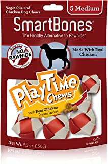 Smartbones Playtime Chews For Dogs With Real Chicken Treats Inside