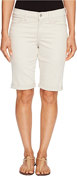 Petite Briella Roll Cuff Shorts in Clay