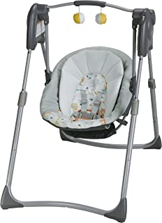 Graco Slim Spaces Compact Baby Swing, Linus