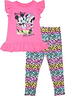 Disney Minnie Mouse Girls Top and Leggings Set