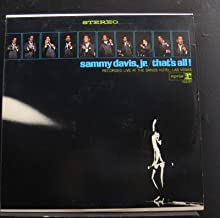Sammy Davis Jr. - That's All! Recorded Live At The Sands Hotel, Las Vegas - Lp Vinyl Record
