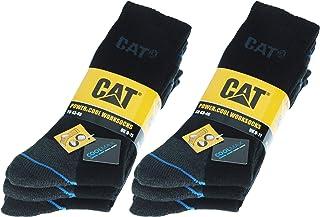 Caterpillar, 6 pares de calcetines de trabajo hombres en Coolmax, doble refuerzo en puntera y talón, hilos de excelente calidad, esponja de algodón y fibra de licra