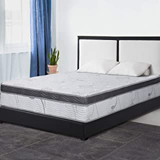 PrimaSleep 12 Inch Multi-Layered Hybrid Euro Box Top Spring Mattress/Non Weaving/Innerspring Full
