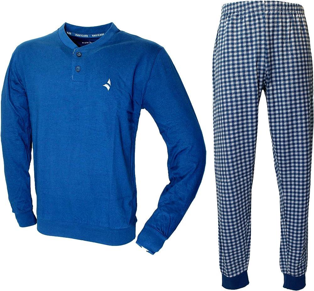 Navigare, pigiama per uomo, fresco cotone jersey 2141193
