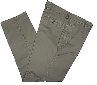 Pantalone Uomo Estivo Tasca America Classico Elasticizzato Vita Alta Gamba Larga Colorato