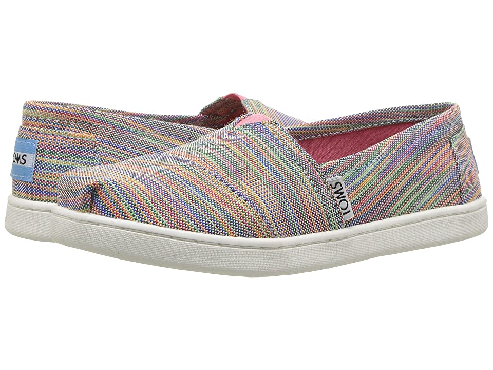 TOMS Kids Seasonal Classics (Little Kid/Big Kid) (Blue Aster Multi Space Dye) Girls Shoes
