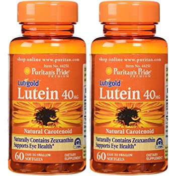 Puritan's Pride Lutein 40 mg with Zeaxanthin-60 Softgels 2 Pack
