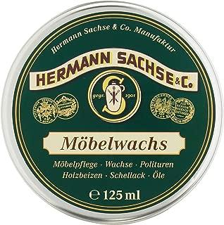 Möbelwachs farblos - 125ml Antikwachs natürlich & wirkungsvoll, in Deutschland hergestellt aus Leinölfirnis Bienenwachs Carnaubawachs, Wachs für Holz - Möbel Holztisch