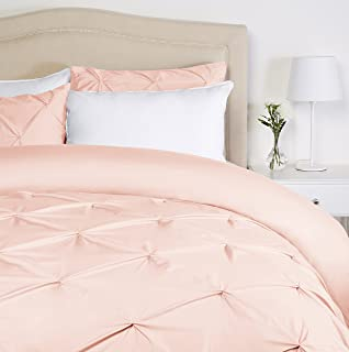 Pinzon Pinch-Pleat Duvet Cover Set, Full / Queen, Blush Pink