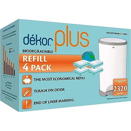 Dekor Plus Recambio de 4 unidades con aroma a polvo para hasta 2320 pa/ñales para pa/ñales Dekor Plus