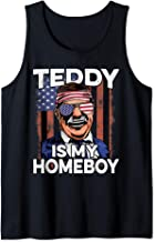 Teddy Roosevelt Shirt Homeboy Sunglasses Flag 4th of July Tank Top