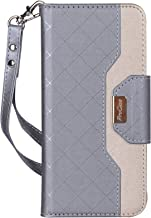 ProCase LG G7 Wallet Flip Case, Folio Folding Case with Credit Card Holders Wristlet Kickstand Phone Cover Case for LG G7 ThinQ 2018 -Grey