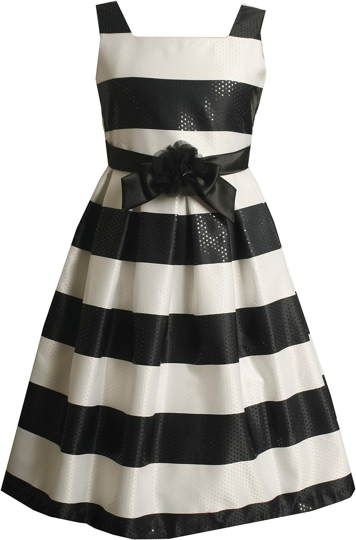 Bonnie Jean Big Girls' Horizontal Stripe Sleeveless Dress