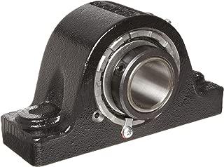 Link-Belt PB22423H Spherical Roller Bearing Pillow Block, 2 Bolt Holes, Relubricatable, Non-Expansion, Cast Iron, Setscrew Locking Collar, Inch, 1-7/16
