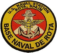U.S. NAVAL STATION ROTA, SPAIN BASE NAVAL DE ROTA ROUND PATCH
