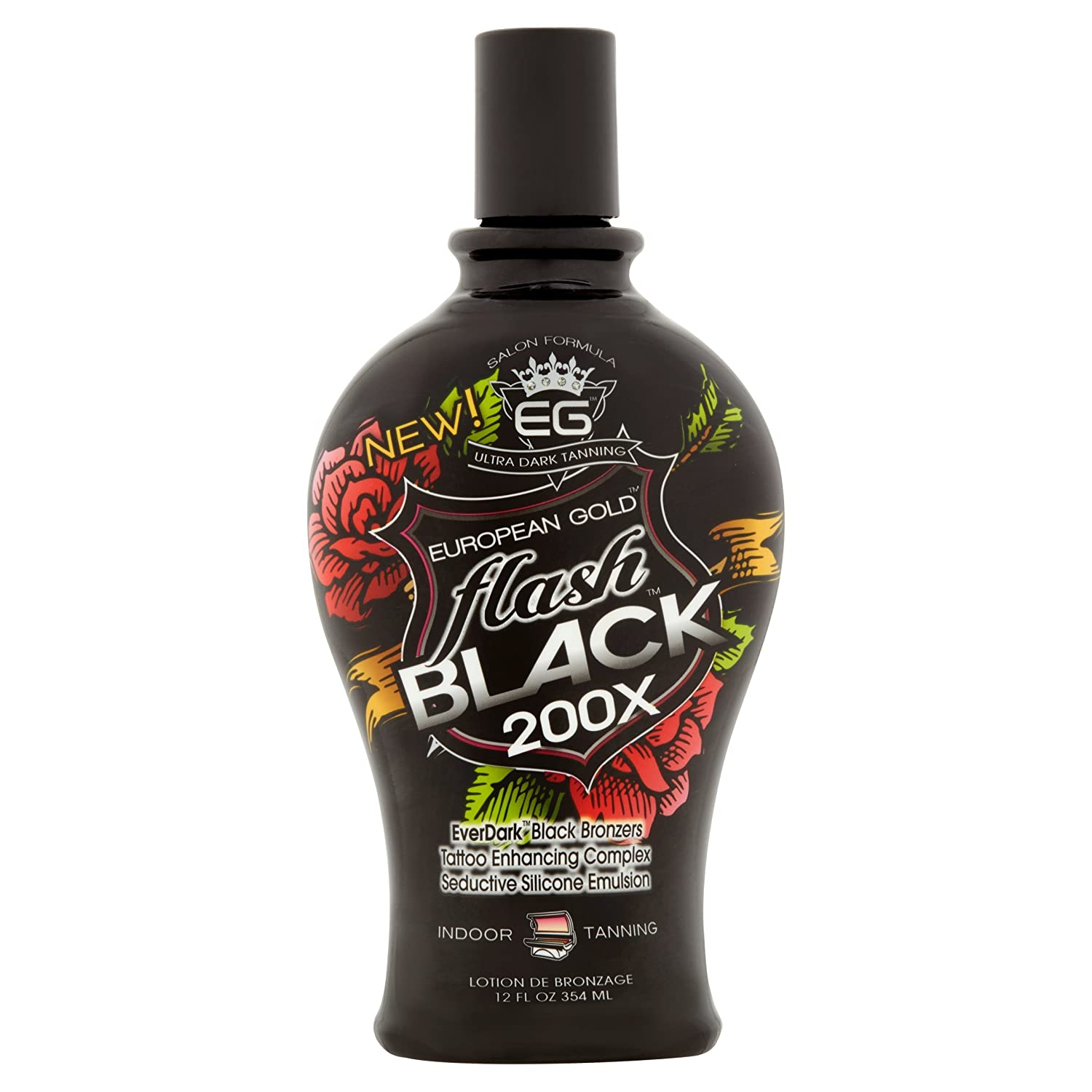 European Gold Save money Flash Black 200x Ever Indoor Lotion Cheap mail order specialty store fl 12 Tanning