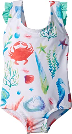 Hatley Kids - Ocean Treasures Ruffle Swimsuit (Toddler/Little Kids/Big Kids)
