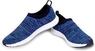 NIVIA - - Step Out & Play 967BL Mesh KNITFLEX Running Shoe - Blue, 8 (Blue)