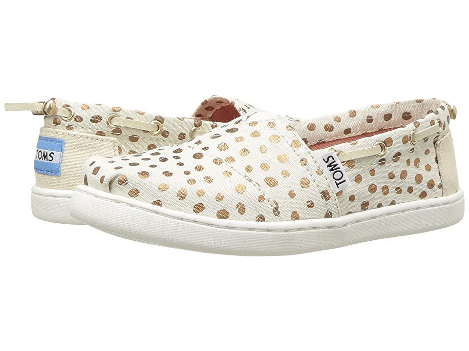 TOMS Kids Bimini (Little Kid/Big Kid) (Rose Gold Dots) Girl