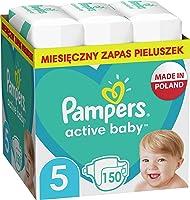 Pampers Active Baby Pieluszki, rozmiar 5, 150 pieluszek, ochrona przed przeciekaniem przez całą dobę, 11kg-16kg