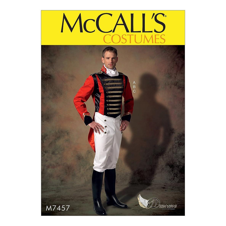 McCall's Patterns M7457MEN Men's Embellished Jacket/Pull-On Pants and Cravat