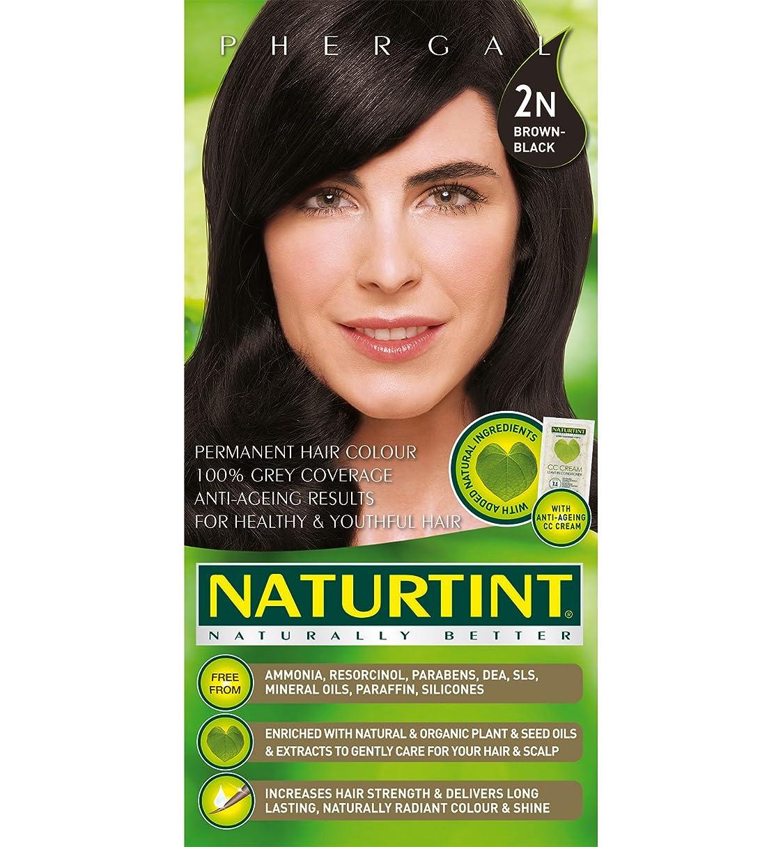 成功ジョガー力学Naturtint Hair Color 2N Brown Black Permanent (並行輸入品)