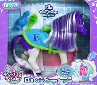 "Breyer Color Changing Bath Toy, Ella The Horse, Purple / White with Surprise Pink Color, 7"" x 7.5"""