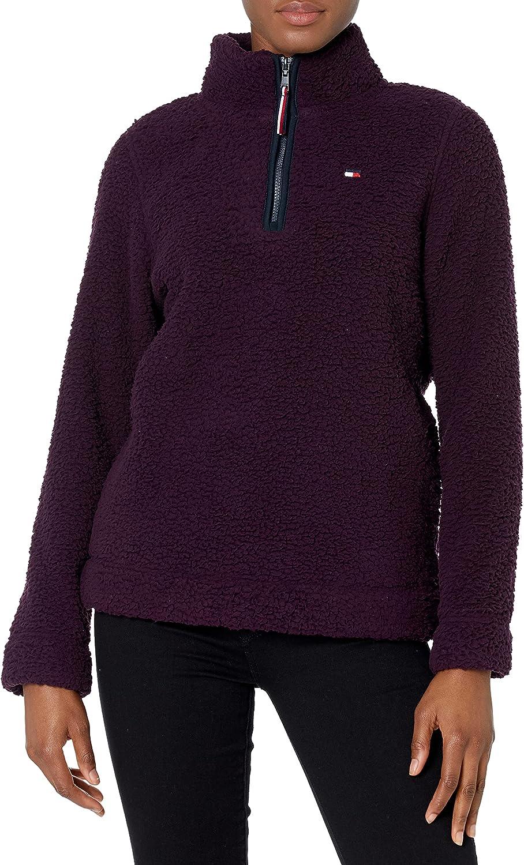 Tommy Hilfiger Women's 1/4 Zip Sherpa Jacket