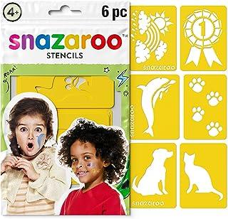 Snazaroo Unisex Face Paint Stencils Set of 6